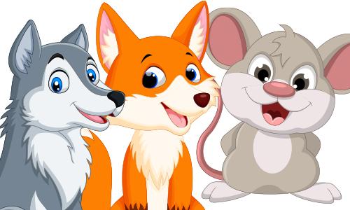 Maus, Fuchs, Wolf